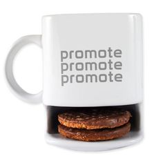 place your biscuits in the mug ready for dunking!