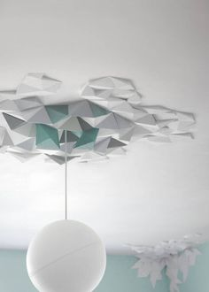 geometric ceiling rose by lime lace   notonthehighstreet.com