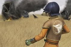 Star Wars Rebels : Ezra and crashed TIE fighters