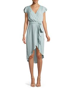 8f2000a808 Alice + Olivia Ilissa Flutter-Sleeve Silk Wrap Dress