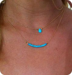 two necklaces. color
