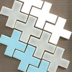 """Modwalls. Check out these, iconic, cross or """"Plus Design"""" tiles. :"""