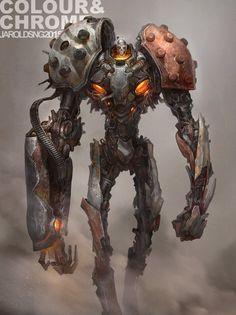 Colour & Chrome 3 - Combat suit, jarold Sng on ArtStation at https://www.artstation.com/artwork/colour-chrome-3-combat-suit