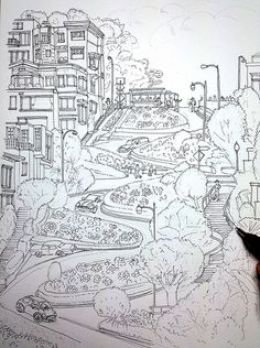 Beautiful Scenery Colouring Pages Beautiful scenery