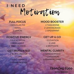 Essential Bliss with Sarah Motivation diffuser blends Essential Oils Guide, Essential Oil Uses, Doterra Essential Oils, Black Pepper Essential Oil, Doterra Blends, Helichrysum Essential Oil, Motivation, Essential Oil Diffuser Blends, Doterra Diffuser