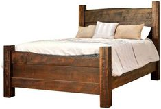 You'll save on every piece of furniture at Amish Outlet Store! We custom make every item, and you can get the Live Edge Bed in Ruffsawn with any wood and stain.