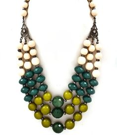 Anthropology statement necklace