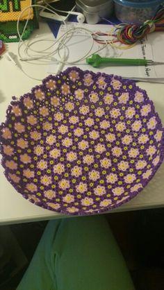 Flower Perler bowl