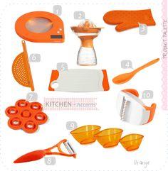 Oranges Kitchen Decor Splash Your Cooking Mood With Orange Accessories Pinterest And