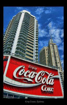 The colossal Coca-Cola billboard in Kings Cross, #Sydney, #Australia