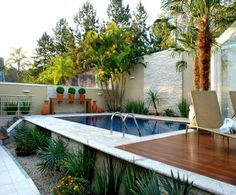 Decor – Pools : Resultado de imagem para piscina de fibra para quintal pequeno -Read More – Outdoor Pool, Outdoor Spaces, Outdoor Gardens, Outdoor Living, Outdoor Decor, Pools For Small Yards, Luxury Pools, My Pool, Swimming Pool Designs
