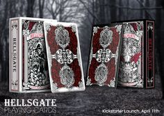http://kck.st/1JBb7oK  Hellsgate Playing Cards has launched on @kickstarter! Chance to DOUBLE UP ur pledge if you back it now!