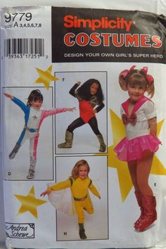 Simplicity 9779 Design Your Own Child's Costumes
