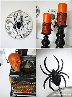 Halloween Cheese and Wine Party Decor by Bird's Party