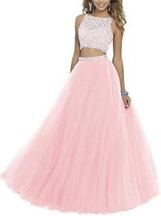 online shopping for ALW Women's Two Piece Beaded Bodice Tulle Prom Dress Cocktail Party Dress Ball Gown Homecoming Dress from top store. See new offer for ALW Women's Two Piece Beaded Bodice Tulle Prom Dress Cocktail Party Dress Ball Gown Homecoming Dress Pretty Prom Dresses, Prom Dresses 2016, Pink Prom Dresses, Sweet 16 Dresses, Tulle Prom Dress, Prom Dresses Online, Dresses For Teens, Ball Dresses, Cute Dresses