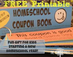 Homeschool Coupons for Back to School: 19 fun coupons to gift to your homeschool kids on their first day back! Or use as a behavior/attitude incentive for the week!