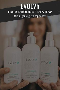 Have you been struggling to find organic haircare products that ACTUALLY clean your hair? Stop the madness and the greasy hair dramatics and look no further than the new and improved EVOLVh haircare line. These are my top picks. #haircareroutine #naturalproducts #naturalshampoo #heatprotectant