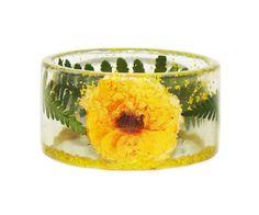 Yellow Flower Bangle, Bangle Bracelet, Friendship Bracelet, Bracelets Handmade, Resin Bracelet, Handmade Bracelet, Fashion Bangle