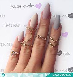 Zobacz zdjęcie Niezwykle modny tej jesieni mat ♡♡♡ Lakiery hybrydowe SPN Nails UV LaQ: - 510 Skin color - 634 Perfect Beige - 511 Nude - 670 Stone Age Nails by Karolina Kaczerewska w pełnej rozdzielczości