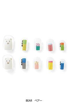 Bear nail sticker by Haco