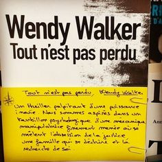 Tout n'est pas perdu de Wendy Walker. @sonatineeditions  Coup de cœur Alexandre librairie Port Maria à Quiberon  #book #livre #lespetitsmotsdeslibraires #polar