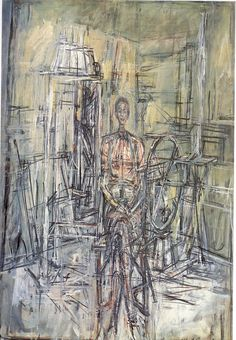 alberto giacometti - oil on canvas laid down on masonite.
