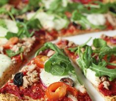 Pizza tonijn mozzarella met havermoutbodem, Gezonde pizza recepten, Glurenvrije pizza maken, Glutenvrije pizza bodem recept, Glutenvrije foodblogs, Beaufood recepten, Zelf pizza bodem maken, Pizza havermout