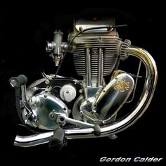 ◆ Visit MACHINE Shop Café ◆ (No. 114 ~ CLASSIC 500cc AJS TRIALS BIKE, by Gordon Calder, via Flickr, 3,000,000 Views!)