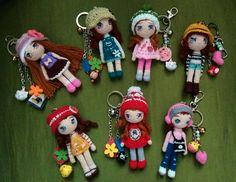 keychains cute doll