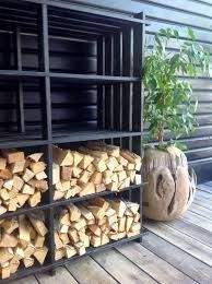 Wood Storage on the back of a car roof, from wooden storage racks Firewood Rack, Firewood Storage, Storage Racks, Wood Store, Wood Shed, Backyard Sheds, Outdoor Living, Outdoor Decor, Barbacoa