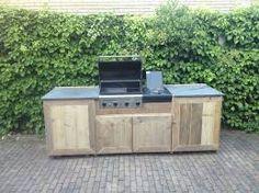 Afbeeldingsresultaat voor zelf een buitenkeuken maken van steigerhout
