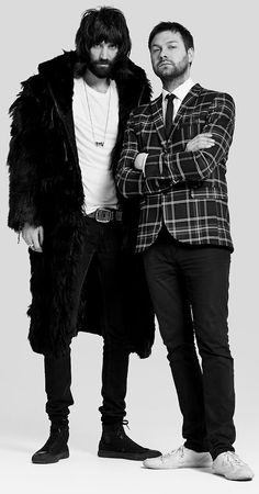 Tom (right) and Serge (left) from kasabian, my fave band! Xx