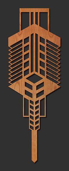 Frank Lloyd Wright Medallion-Decorative Laser Cut Wood Medallion