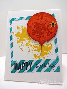 Grungy Balloon by pdncurrier - Cards and Paper Crafts at Splitcoaststampers