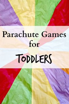 Parachute Games for Toddlers : Easy Activities for Early Years - Kinderspiele Toddler Party Games, Toddler Fun, Preschool Activities, Music Activities, Playgroup Activities, Toddler Yoga, Kids Fun, Toddler Gross Motor Activities, Toddler Circle Time