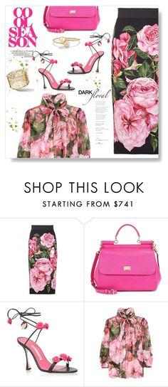 """Kiss From A Rose..."" by desert-belle ❤ liked on Polyvore featuring Dolce&Gabbana, Manolo Blahnik, Chanel, La Femme, David Yurman, dolceandgabbana, manoloblahnik, polyvoreeditorial, 2017 and darkflorals"