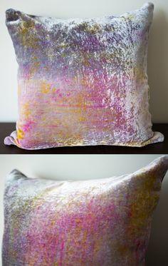 Spring inspired velvet cushion available from my Etsy: www.etsy.com/listing/183202007/