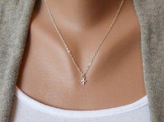 Sterling Silver Cross Necklace via Etsy