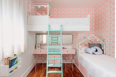 Baby Room Decoration - 12 Best Pink Home Decor Gallery Cool Girl Bedrooms, Bed For Girls Room, Girl Room, Cool Bunk Beds, Pink Home Decor, Baby Room Decor, Room Design Bedroom, Kids Bedroom, Kids Bedroom Ideas