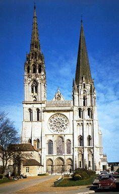 West Facade, Chartres Cathedral, Chartres, France, c. 1145-1155