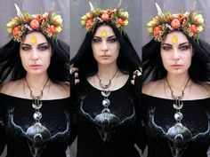 This item is unavailable Pagan Fashion, Mori Fashion, Triple Goddess, Moon Goddess, Autumn Witch, Woodland Elf, 80s Goth, Witchy Outfit, Gothic Beauty
