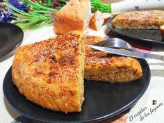 TORTILLA DULCE DE PAN (con sabor a torrijas) Tortilla Pan, Flan, Cornbread, Banana Bread, Catering, Sweet Tooth, French Toast, Chocolate, Cooking