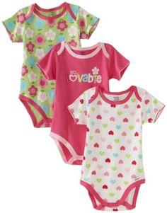 Gerber Baby-Girls Newborn 3 Pack Lovable Bodysuit, « Clothing Impulse