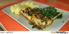 Králík na sušených houbách Pork, Meat, Chicken, Kale Stir Fry, Pork Chops, Cubs