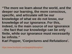 Bildresultat för karl popper quotes open society Karl Popper, Knowledge, Facts, Learning, Quotes, Quotations, Studying, Teaching, Quote