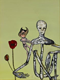 Painting by Kurt Cobain. Used for the cover of NIRVANA's Incesticide album