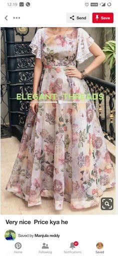 long frocks for kids . long frocks i Lehenga Designs, Kurta Designs, Blouse Designs, Stylish Dress Designs, Designs For Dresses, Stylish Dresses, Long Gown Dress, Frock Dress, Organza Dress