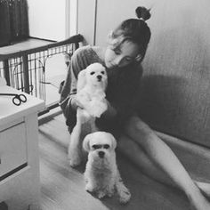 It's playtime for SNSD's TaeYeon and Tiffany's dogs name Prince and Princess. Check out their cute photo below~ ♥ SNSD TaeYeon's Instag...