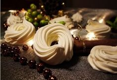 Christmas Time, Xmas, Hungarian Recipes, Meringue, Birthday Candles, Panna Cotta, Cupcake, Candle Holders, Cookies