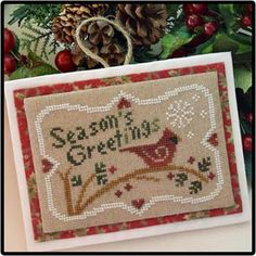 Season`s Greetings by  Little House Needleworks